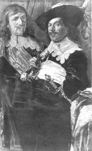 Studie van twee schutters van de St. Jorisdoelen in Haarlem