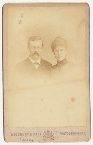 Portret van Cornelis Bastiaan Nederburgh (1858-1943) en Caroline Wilhelmine Hulshoff Pol (1868-...)