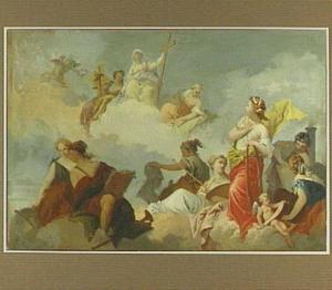 Allegorie op de Kunsten, Wetenschappen en het Geloof