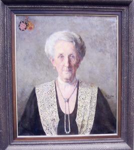 Portret van Johanna Aleida Engelina van Nes van Meerkerk (1856-1936)