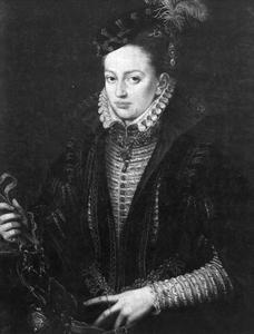 Portret van een vrouw, mogelijk Margaetha van Habsburg (1522-1586)