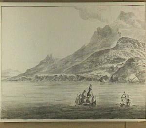 De kust van Marokko tegenover Gibraltar