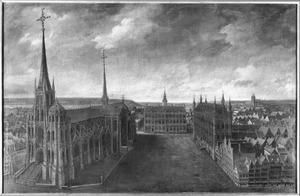 De St. Pieterskerk, Stadhuis en de Grote markt te Leuven