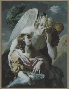 Tobias vangt de vis op aanwijzing van de engel (Tobias 4-6)