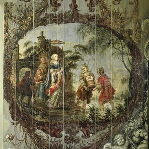 Mozes in het biezen mandje wordt getoond aan de prinses (Exodus 2:5-6)