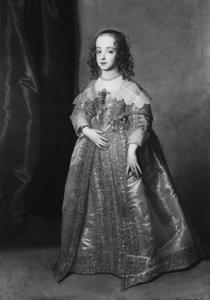 Portret van Mary I Stuart, Princess Royal (1631-1660), als kind