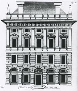 Palazzo di Cipriano Pallavicino: Plan van de gevel
