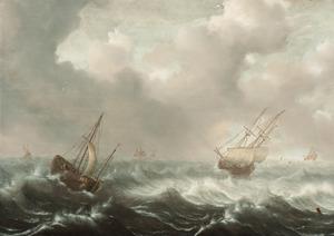 Schepen op ruwe zee