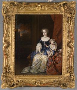 Portret van een jonge vrouw en haar kind