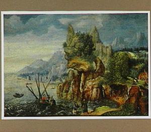 Christus redt Petrus uit het meer van Genesareth