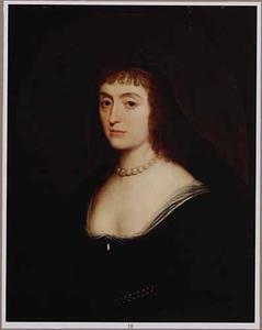Portret van Elizabeth Stuart (1596-1662) als weduwe