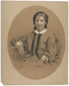 Portret van Jacoba Francina Sophia van Bolhuis (1838- 1865)