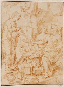 Lot wordt dronken gemaakt door zijn dochters (Genesis 19:33)