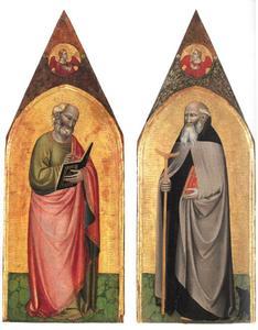 H. Johannes de Evangelist (binnenzijde links), H. Antonius Abt (binnenzijde rechts)