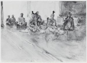 Audiëntie aan het hof van de Javaanse prins