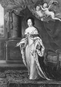 Portret van Ulrika Eleonora (1656-1693), prinses van Denemarken
