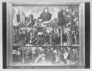 Het Laatste Oordeel met de Zeven Werken van Barmhartigheid en de Zeven Hoofdzonden