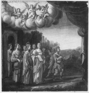 De vrouwen van Jeruzalem verwelkomen David met muziek (1 Samuel 18:7)