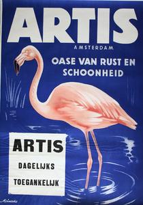 Artis-Affiche: 'Artis Amsterdam, oase van rust en schoonheid'