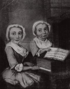 Dubbelportret van Maria van Ankeren (1742-1813) en haar zus