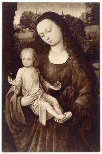 Maria met kind in landschap