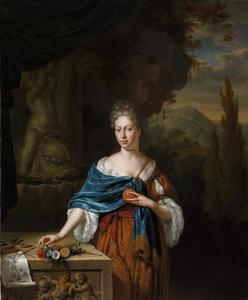 Portret van Dina Margaretha de Bye (1680-1740)