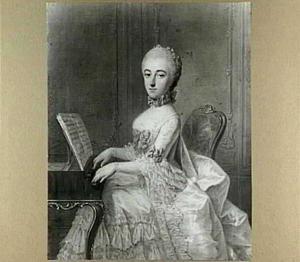 Portret van Margaretha Kien-Buck (1731-1812), echtgenote van Nicolaas Kien