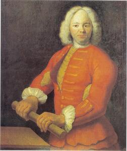 Portret van Nicolas Bourgeois (overleden mei 1724)