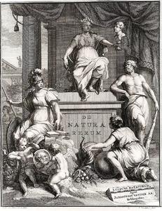 Allegorische voorstelling met Minerva en Hercules