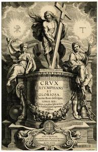 Titelpagina voor G. Bosi, Crux Triumphans et Gloriosa, Antwerpen 1617