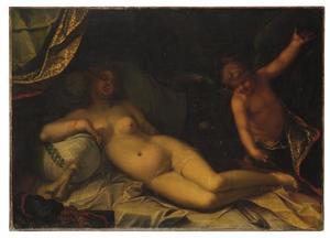 Rustende Venus met Amor