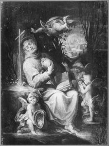 De H. Franciscus van Assisi mediterend in de wildernis