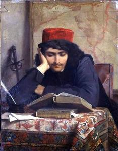 Lezende jonge man