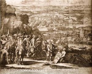 Bezetting van het Turkse fort Azov door Russische troepen in 1696