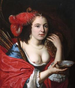 Portret van een onbekende vrouw als Granida