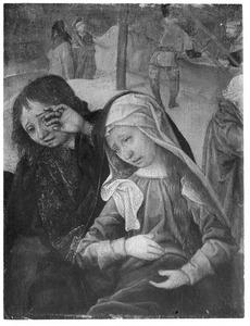 Maria en Johannes de Evangelist wenend