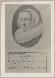 Portret van Clara van Capelle (1607-1675)