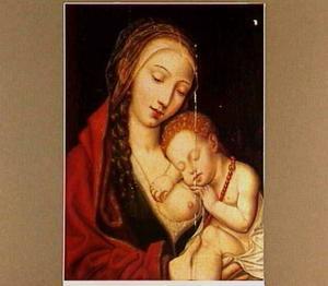 Maria met het kind slapend op haar borst