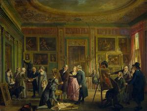 De kunstgalerij van Josephus Augustinus Brentano te Amsterdam