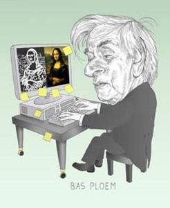 Portret van de digitale kunstenaar Bas Ploem (1927-)