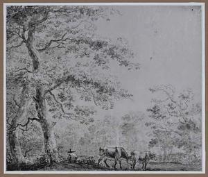 Landschap met herder en vee