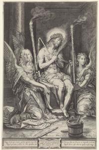 Christus op de koude steen tussen twee engelen