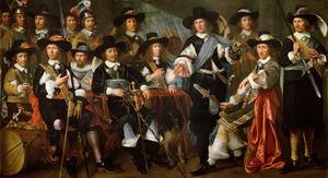 Officieren en onderofficieren van de compagnie van Dirck CLaesz. Veen Schutterij te Hoorn