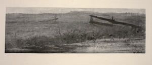 Landschap met hek