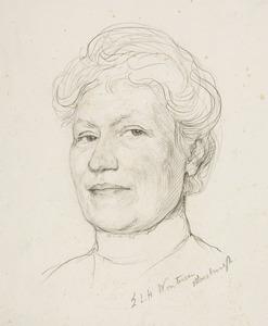 Portret van Anna Christina van den Bergh (1861-1960)