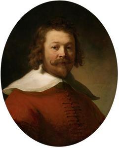 Portret van een man met een rode wambuis