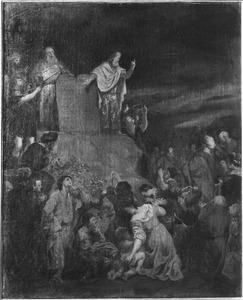 Mozes toon de Israëlieten de nieuwe stenen Tafelen der Wet  (Exodus 34:29-35)