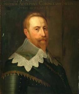 Portret van Gustaaf II Adolf van Zweden (1594-1632)