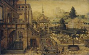 Lazarus voor het paleis van de rijke man