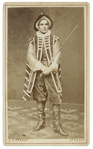 Portret van Augustus Gerard Theodoor Becking (1860-1920) als Hollandsche ruiter